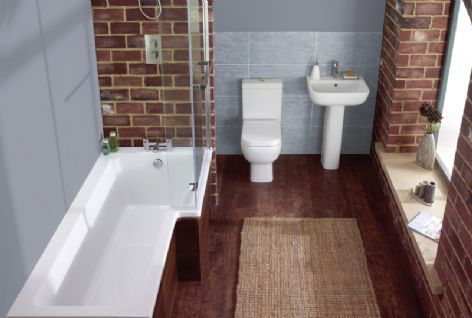 Frontline Blok Shower Bath Suite